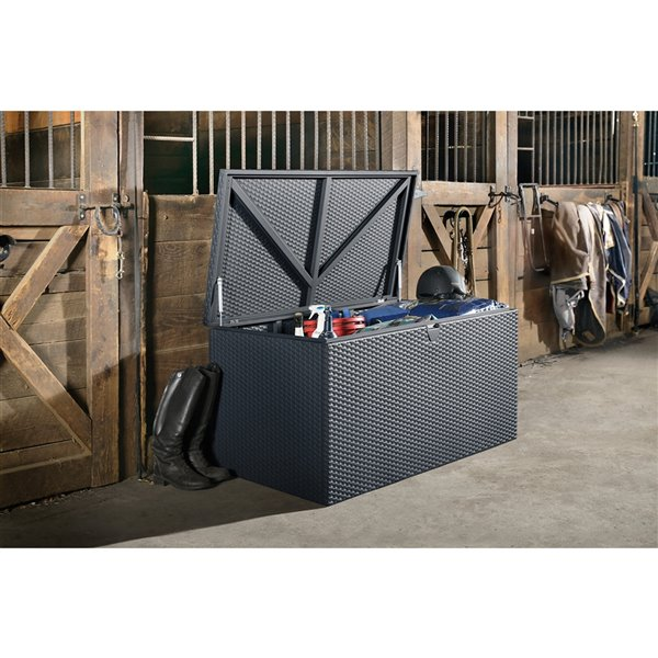 Deck Box Galvanized Steel Storage - Anthracite