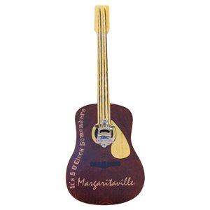 Margaritaville Bottle Opener Sign-Cap Catch-Guitar