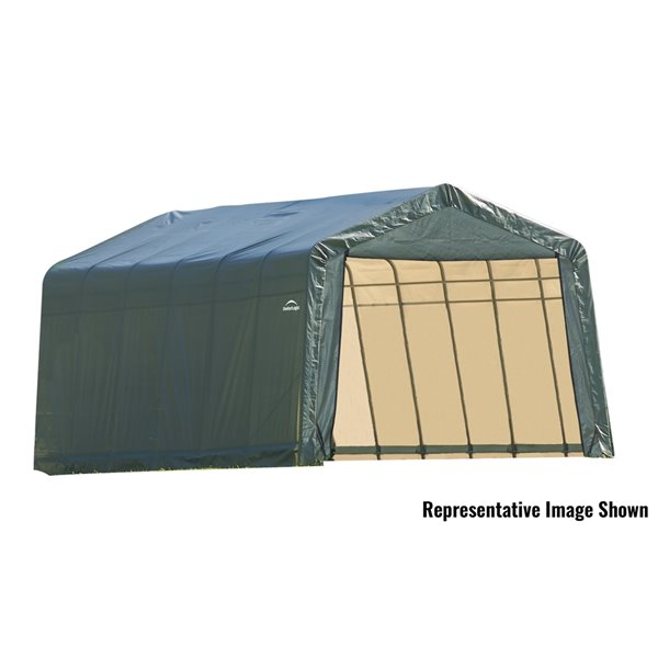 ShelterCoat 13 x 24 ft Garage Peak Green STD