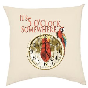 Margaritaville 2-Sided Pillows-5 O'Clock Somewhere