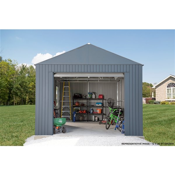 Everest Garage 12 x 30 ft. in Charcoal