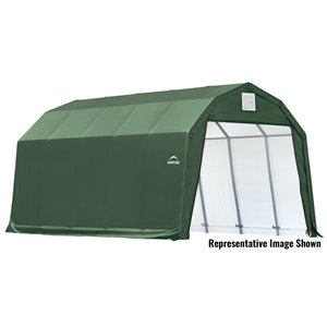 ShelterCoat 12 x 20 ft Garage Barn Green STD