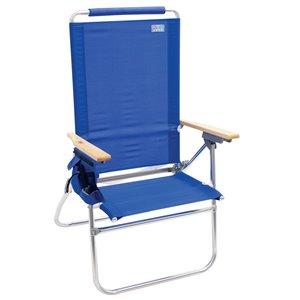 RIO Beach Hi-Boy Tall Back Beach Chair - Blue