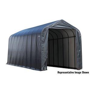 Garage à pignon ShelterCoat 16 x 40 pi, Gris