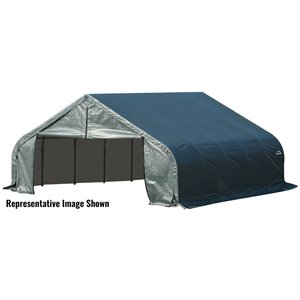 Garage à pignon ShelterCoat 22 x 20 pi, Vert