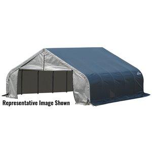 Garage à pignon ShelterCoat 18 x 24 pi, Gris