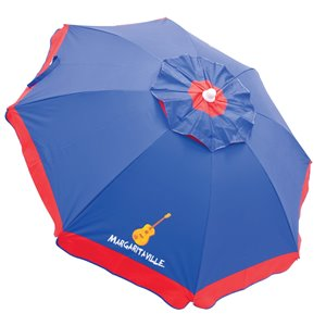 Margaritaville Parasol 6 pi, fixation, bleue-rouge
