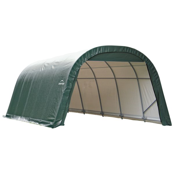ShelterCoat 12 x 20 ft Garage Round Green STD