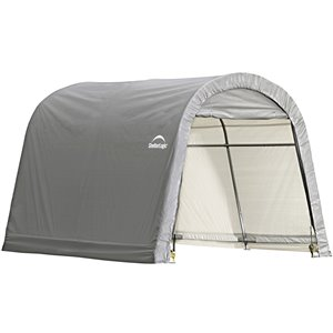Shed-in-a-Box Roundtop Storage Shelter 10x10x8 ft
