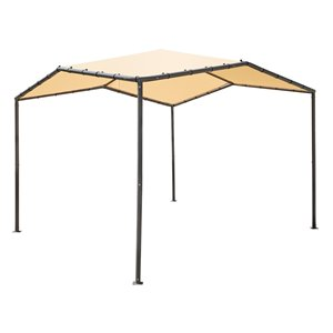 ShelterLogic Pacifica Gazebo with Cover - 10 ft x 10 ft - Charcoal/Marzipan Tan