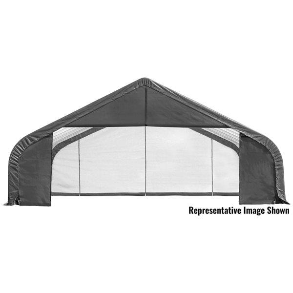 Garage à pignon ShelterCoat 28 x 24 pi, Gris