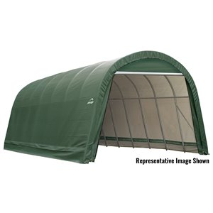 ShelterCoat 15 x 28 ft Garage Round Green STD