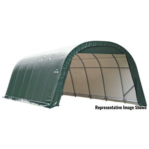 ShelterCoat 12 x 28 ft Garage Round Green STD