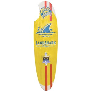 Landshark Bottle Opener Sign - Magnetic Cap Catch