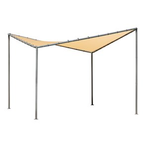 Shelter Logic Del Ray Gazebo with Canopy - 10 ft x 10 ft - Charcoal/Tan