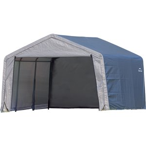 Shed-in-a-Box Storage Shelter 12 x 12 x 8 ft Gray