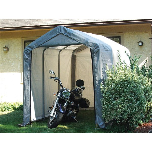 Shed-in-a-Box Storage Shelter 6 x 12 x 8 ft Gray