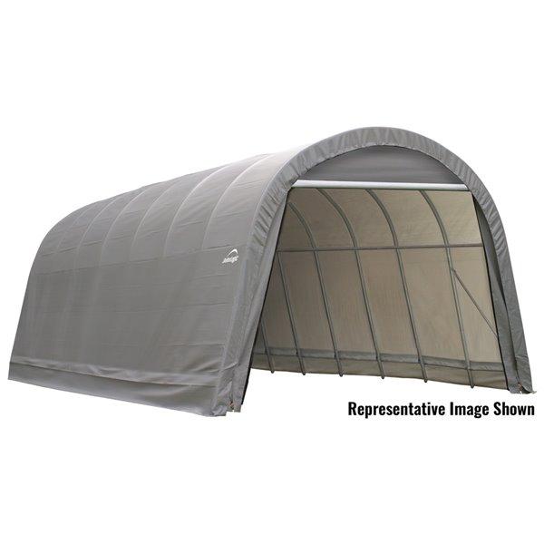 Shelterlogic Sheltercoat 15 X 28 Ft Garage Round Gray Std 95333 Rona