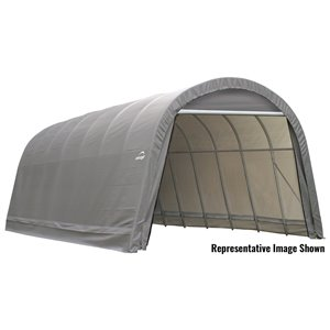 Rond Garage ShelterCoat 15 x 28 pi, Gris
