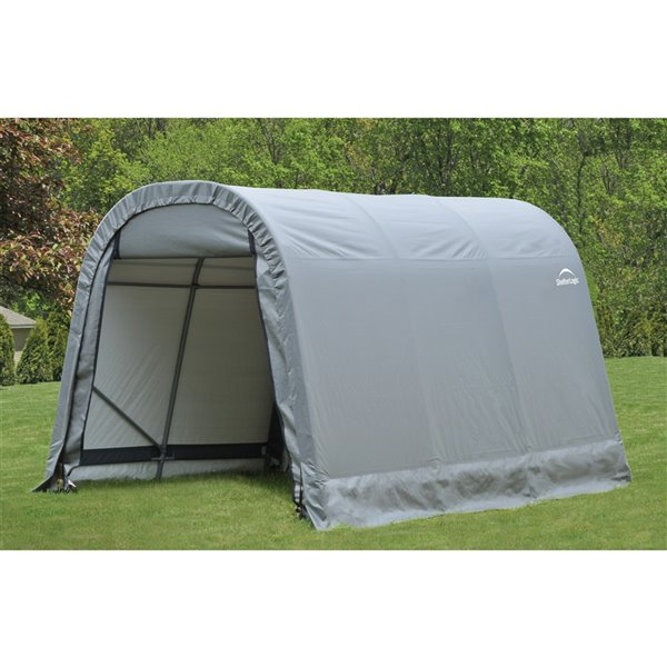 ShelterCoat 8 x 12 ft Garage Round Gray STD