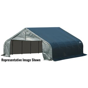 Garage à pignon ShelterCoat 18 x 24 pi, Vert