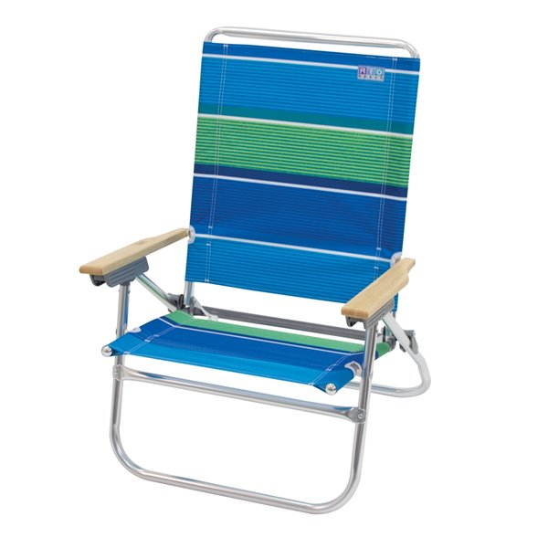 RIO Beach 4-Pos. Easy In-Easy Out Beach Chair-Str