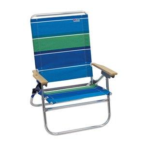RIO 4-Positions, accès facile, chaise plage, bande
