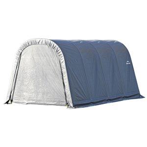 Rond Garage ShelterCoat 10 x 16 pi, Gris standard