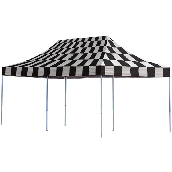 Pop-Up Canopy HD-Straight 10x20 ft Checkered Flag