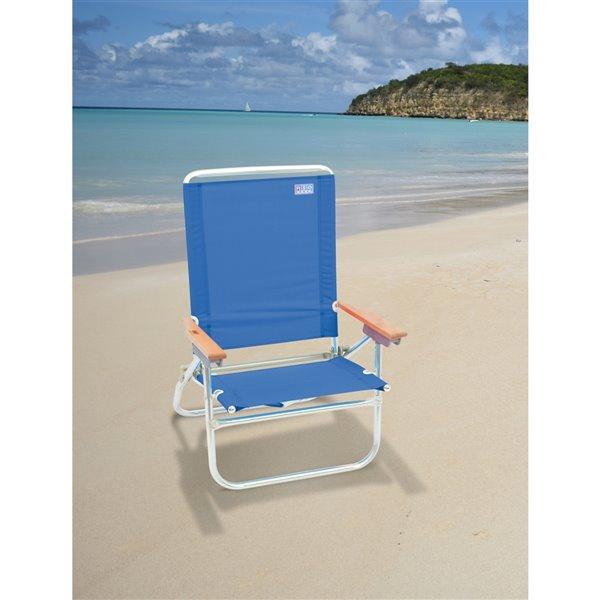 RIO Beach 4-Pos. Easy In-Easy Out Beach Chair - BL