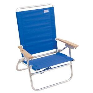 RIO 4-Positions, accès facile, Chaise Plage, bleue