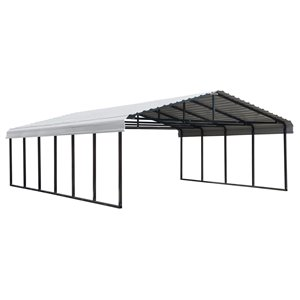 Arrow Carport 20 x 29 - Eggshell