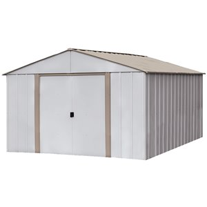 Newburgh 10x14 ft Steel Storage Shed Coffee/Eggsh