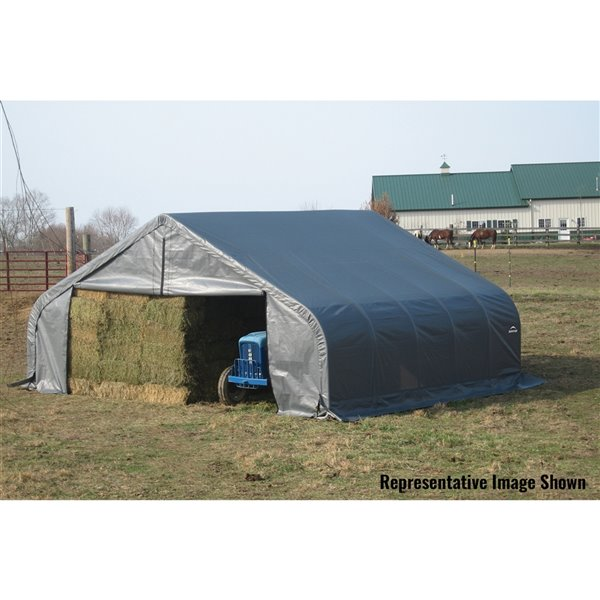 ShelterCoat 22 x 24 ft Garage Peak Gray STD