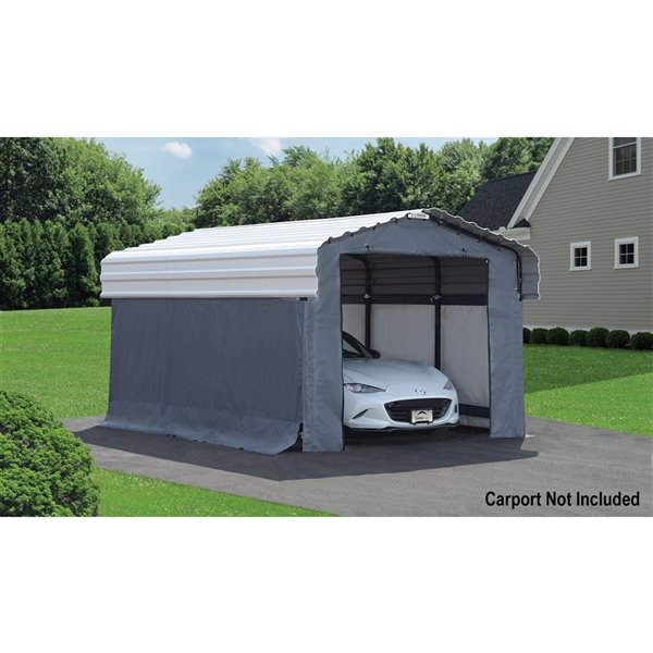 Enclosure Kit Accessory for 10x15 ft Carport Grey