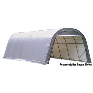 ShelterCoat 13 x 28 ft Garage Round Gray STD