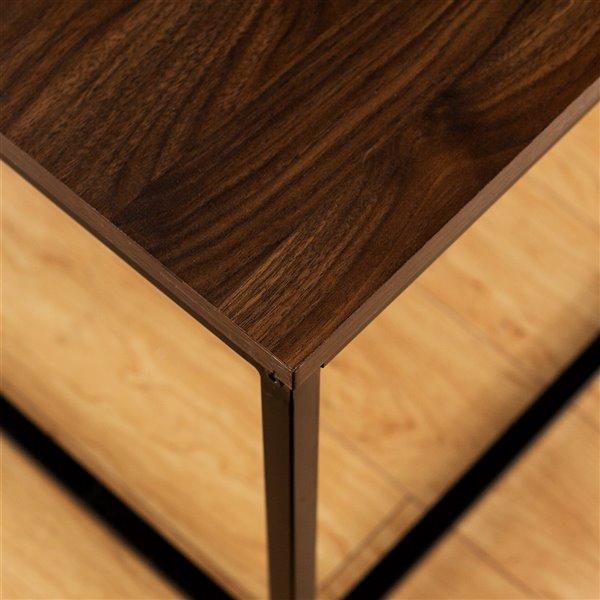Walker Edison Mixed Material Coffee Table - 42-in - Dark Walnut