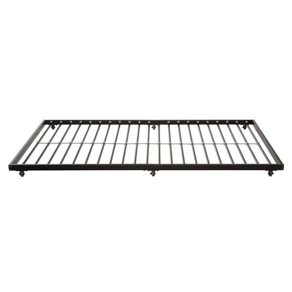 Twin Roll-Out Trundle Bed Frame - Black