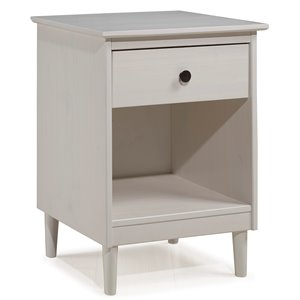 Modern 1 Drawer Nightstand - White