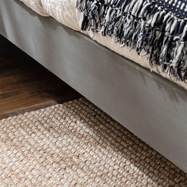 Solid Wood Queen Platform Bed - Grey Brush