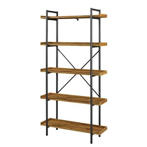 68-in Urban Pipe Bookshelf - Barnwood
