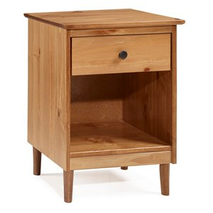 Modern 1 Drawer Nightstand - Caramel