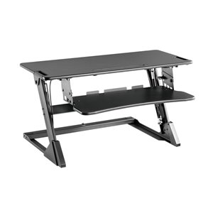 TygerClaw Gas Spring Sit-Stand Desktop Workstation - 19.7-in x 35-in - Black