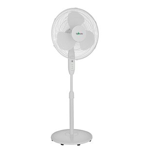 Ecohouzng Stand Fan with Remote - 3-Speed - 16-in - White