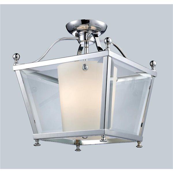 Luminaire semi-encastré Ashbury de Z-Lite 3 lumières, 12,25 po x 14 po, chrome