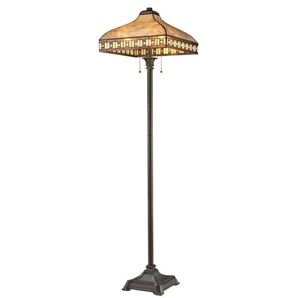 Z-Lite Crimson 3 Light Floor Lamp - 17-in x 65.5-in - Bronze Java