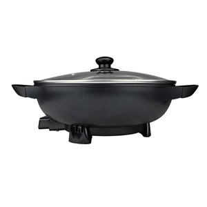 Brentwood Non-Stick Flat Bottom Electric Wok Skillet - 13-Inch - 195-450°F