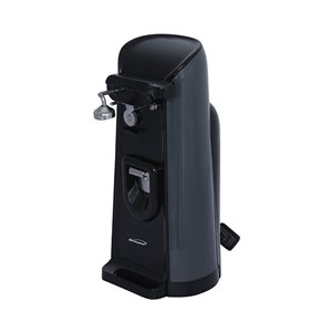 Brentwood Electric Can Opener with Knife Sharpener & Bottle Opener - Black