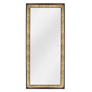 Miroir DEL avec feuille d'or Apollo de Dyconn, rectangulaire, 28 po x 64 po