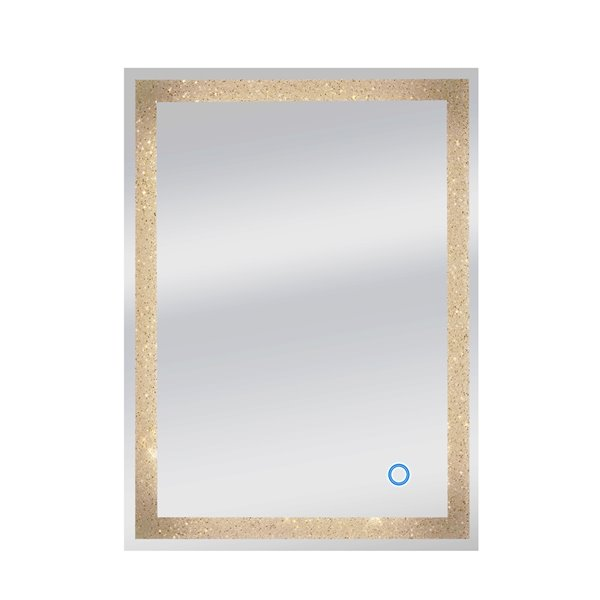 Dyconn Faucet Edison Crystal LED Mirror - Rectangular - 24-in x 34-in